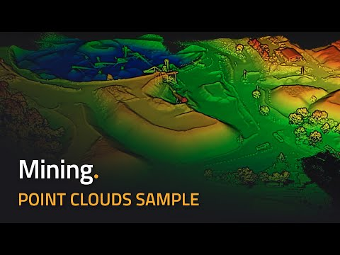 LiDAR for Drones - Mining Application - Pointclouds - reliab