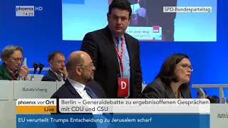 Generaldebatte beim Bundesparteitag der SPD (Teil 2) am 07.12.17