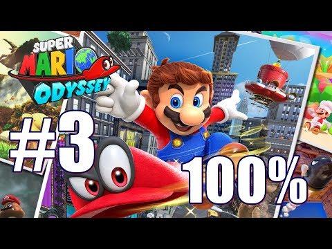 Super Mario Odyssey All Power Moon & Purple Pyramid locations Sand Kingdom 100% Walkthrough Part 3
