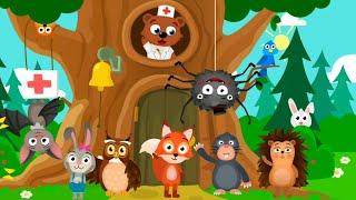 Let's Play • Doctor veterinarian • dla dzieci, Lecznica zwierzątek leśnych, bajki, Gry dla dzieci