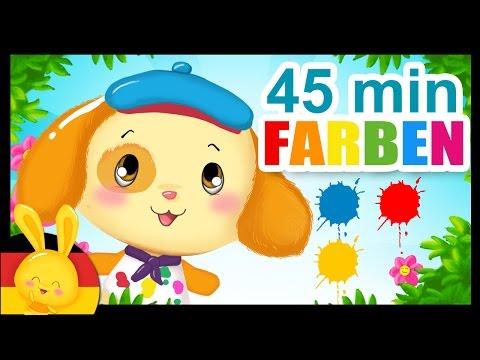 FARBEN - Wir lernen die Farben - Das farbenlied - Der Farbenlieder Mix in Deutscher Sprache