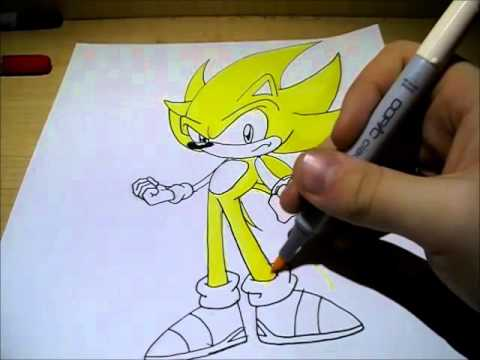 How To Draw Super Sonic Youtube