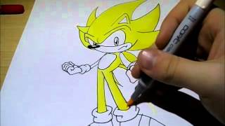 how to draw SUPER SONIC!!!