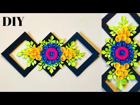 DIY| Paper Wall Decoration ideas| Home Decoration ideas| Paper Flowers making| Paper Crafts