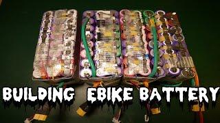 DIY 36v 15ah lithium ion 18650 Ebike Battery, Balance Leads pt3