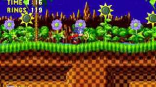 Sonic gameplay Level 1 (Sega Mega Drive)