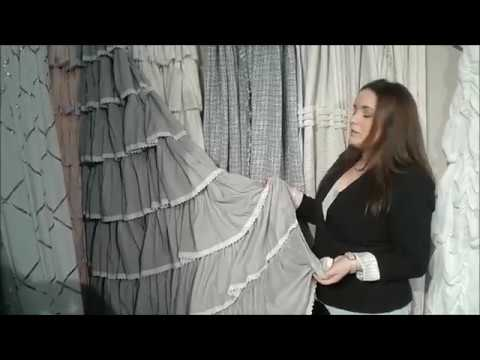 Lush Decor Lace Ruffle and Ella Lace Ruffle Shower Curtains