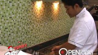 Thai Food Cooking : Steamed fish with spicy sauce (Pla Nueng)