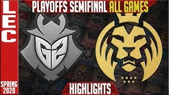 G2 vs MAD Highlights ALL GAMES | LEC Spring 2020 Playoffs Semi-finals | G2 Esports vs MAD Lions