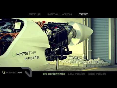 Hypstair 200 kW serial hybrid electric powertrain. First power up.