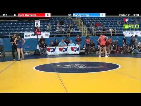 5th Place 112 - Cara Romeike (Texas 2) vs. Maddy Tung (California #2)
