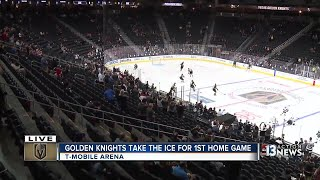 UPDATE: Fans excited despite Vegas Golden Knights loss in first home game