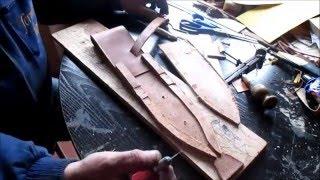 Como hacer una funda de cuchillo para Daga de Caza Mayor. Vídeo 4 de 7