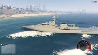 GTA 5 Tàu Tuần Tra Cảnh Sát Biển Xuất Chiến | Đi Tới Tham Khu Quân Đội Và Cái Kết !
