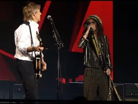 AEROSMITH's Steven Tyler joined Paul McCartney June 28 on stage in Las Vegas