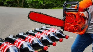 CHAINSAW VS COCA COLA TEST