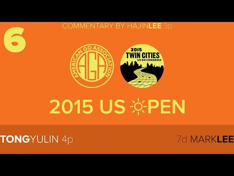 2015 US Open Masters Rd6: Tong Yulin 4p (w) vs Mark Lee 7d (b)