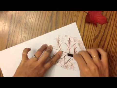 1st-Leaves, crayon rubbing