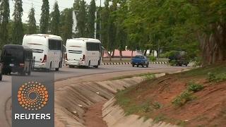 Chibok girls released by Boko Haram arrive in Abuja