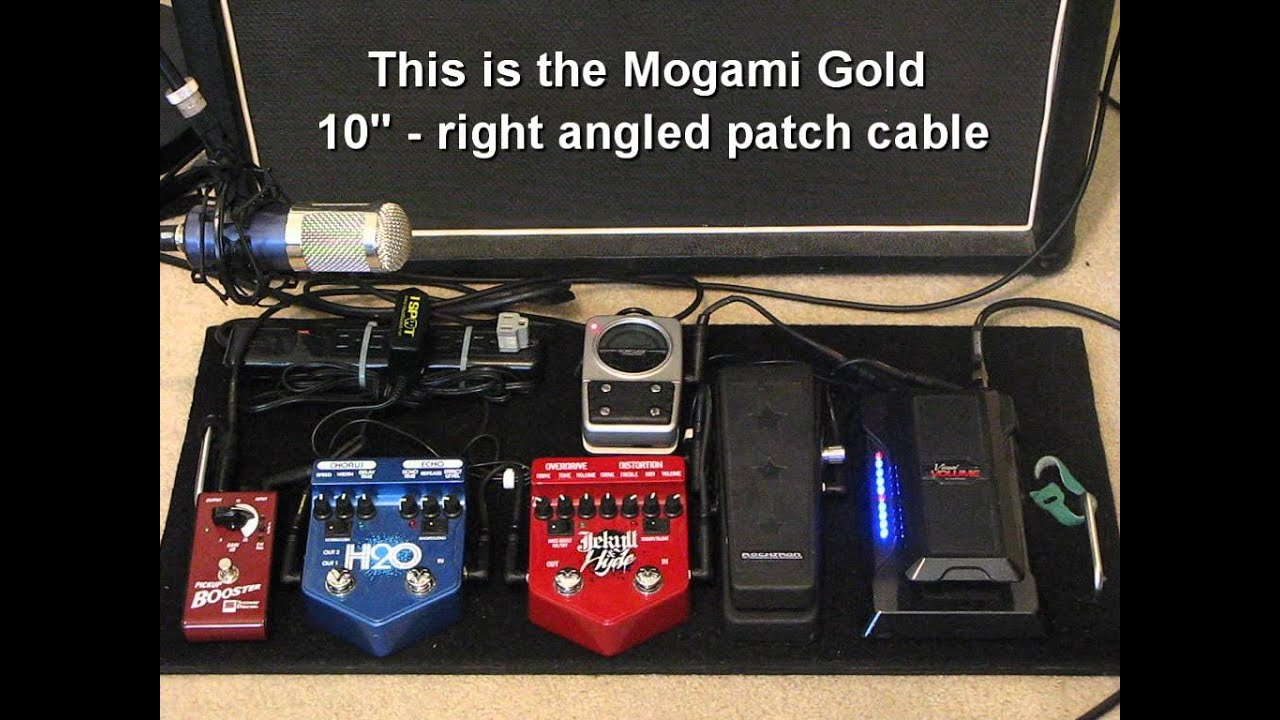 Fair And Balanced >> Guitar Pedal Board - Mogami Cable Upgrade - YouTube