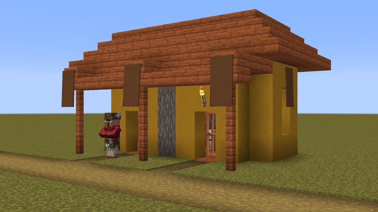 How to build a Minecraft Village Fletcher House (8.84 savanna)
