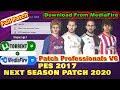 PES 2017 Next Season Patch Professionals V6 2020 AIO Season 2019/2020