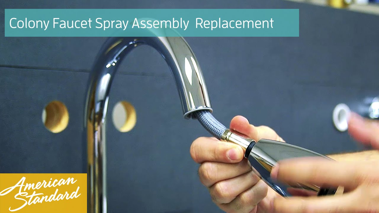 How to Replace the Spray Assembly for your Colony Faucet - YouTube