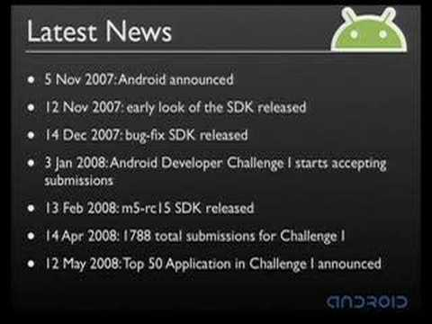 Google I/O 2008 - An Introduction to Android