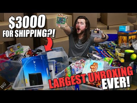 Largest Video Game Collection Unboxing Ever! *$3000* IN SHIPPING!