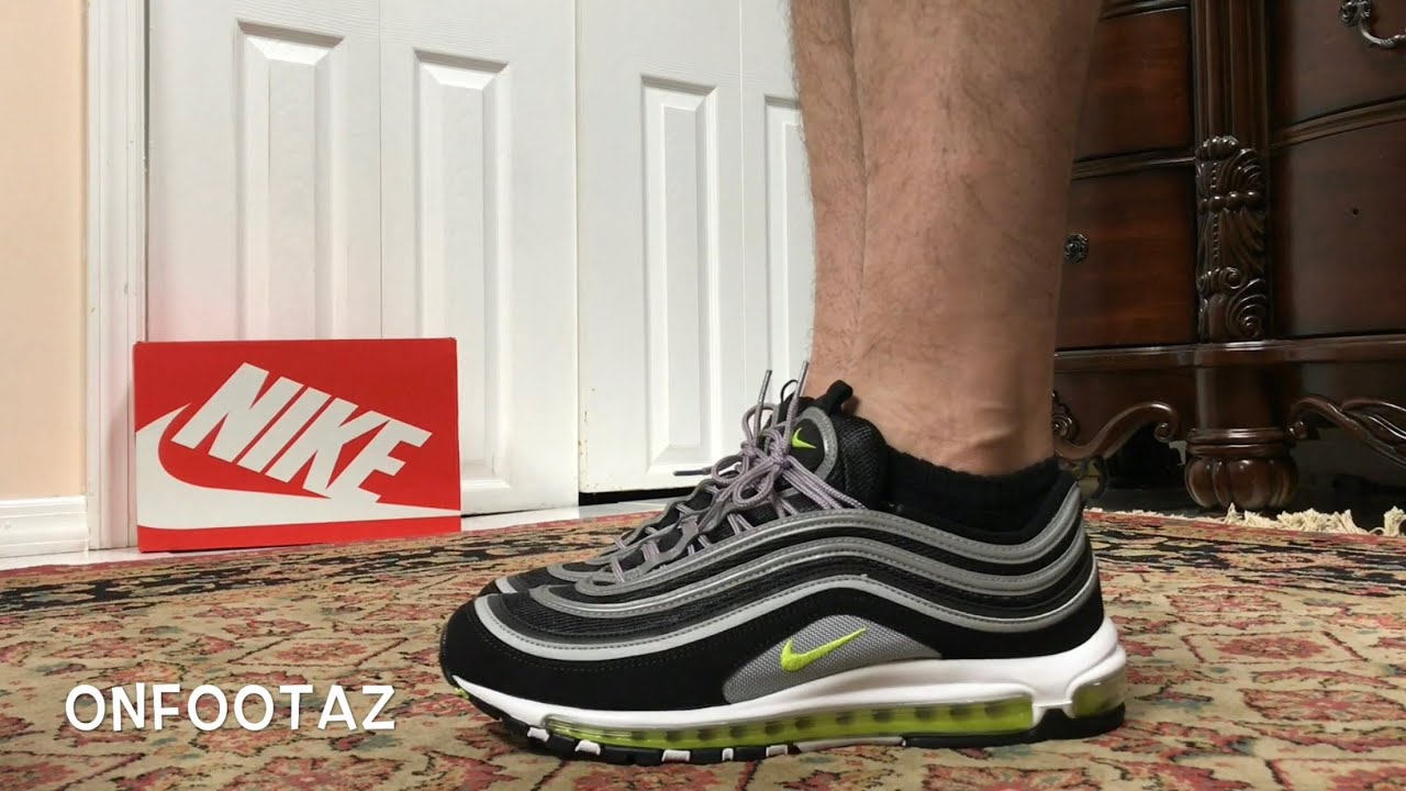 Nike Air Max 97 Black Volt 2017 On Foot - YouTube 258701edd