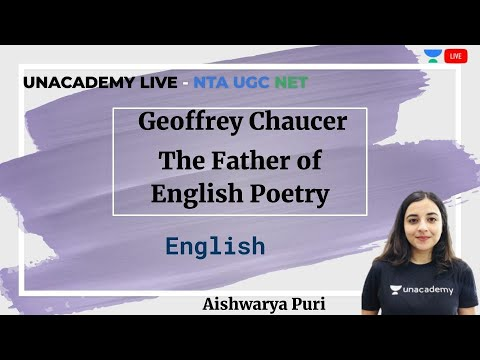 Geoffrey Chaucer | English | Unacademy Live - NTA UGC NET | Aishwarya Puri