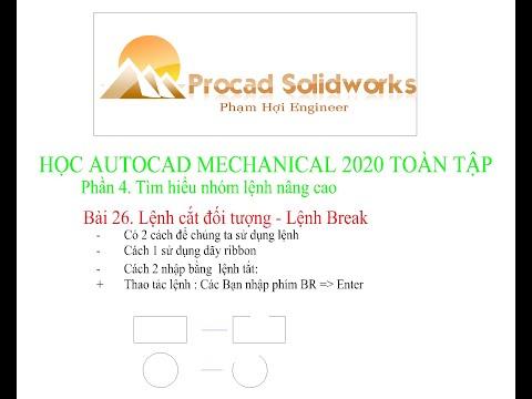 Bài 26. Lệnh cắt đối tượng , Lệnh Break trong autocad