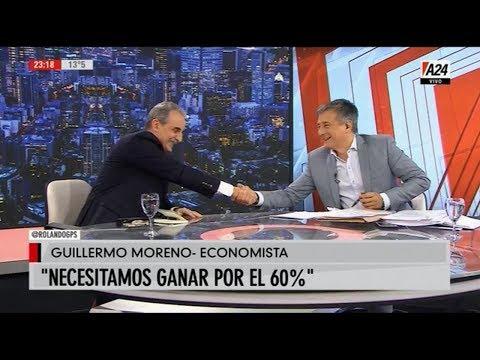 Guillermo Moreno Con Rolando Graña En GPS  A24 31/05/19