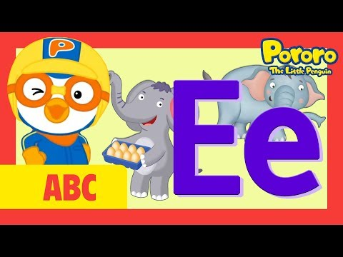 """Learn Letter """"E"""" with Pororo 