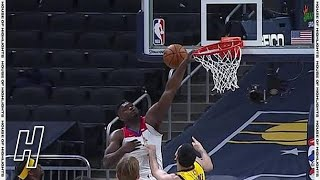 Zion Williamson Broke The Rim Up On a Dunk Attempt - Pelicans vs Pacers - February 5, 2021