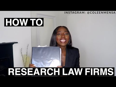 Researching Law Firms Properly