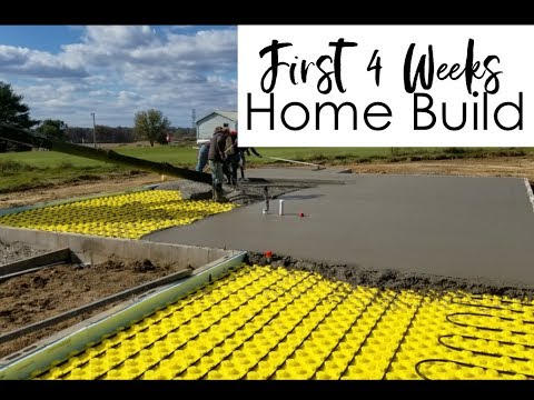 Building A Home: First Month of Building (radiant in-floor heat)