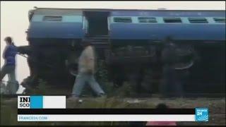 India  Passenger train derails near Kanpur, killing scores