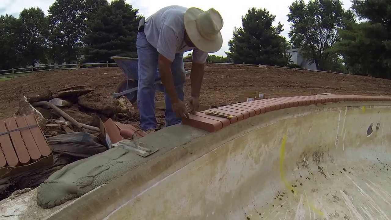 How To Install Tile And Coping On A Pool Remodel Youtube