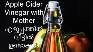 APPLE CIDER VINEGAR With MOTHERഎളുപ്പത്തിൽ വീട്ടിൽ തയ്യാറാക്കാം|How To Make Home Made|KETO Malayalam