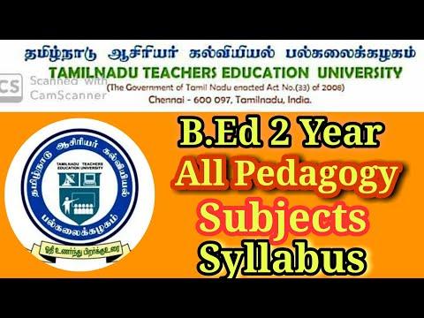 Tnteu B.Ed 2 Year Syllabus All Pedagogical Subjects ll  Content Mastery ll School Books 9.10& 11.12