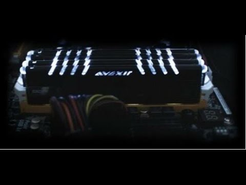 Avexir Core Series Quad Channel DDR3 DIMM Kit 16GB With White Leds - Action Video