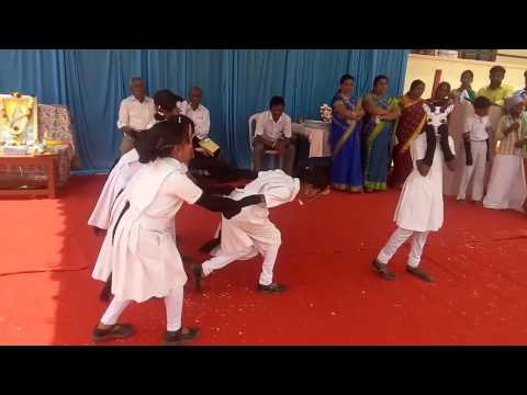 Punyakoti dharani mandala Kannada song drama act by Skandas school childrens