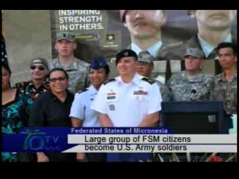 Large Group Of FSM Citizens Become U.S. Army Soldiers