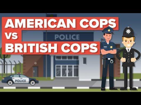 American Cops vs British Cops (Bobbies)