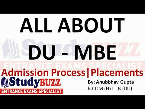 All About Du Mbe Placements Admission Process Fees Structure Cut Offs Youtube