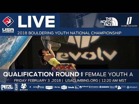 Female Youth A • Qualifiers • 2018 Youth Bouldering Nationals • 2/9/18 12:20 PM