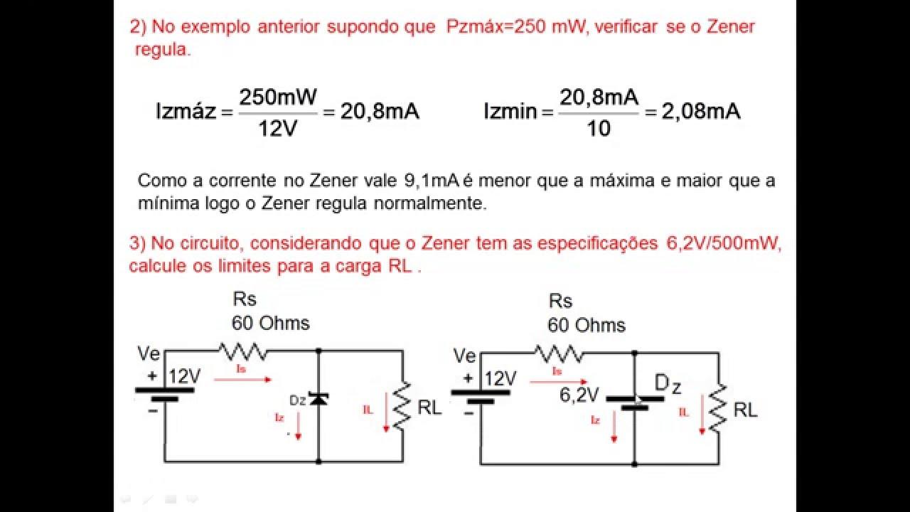 Circuito Zener : Aula12: circuito regulador zener youtube