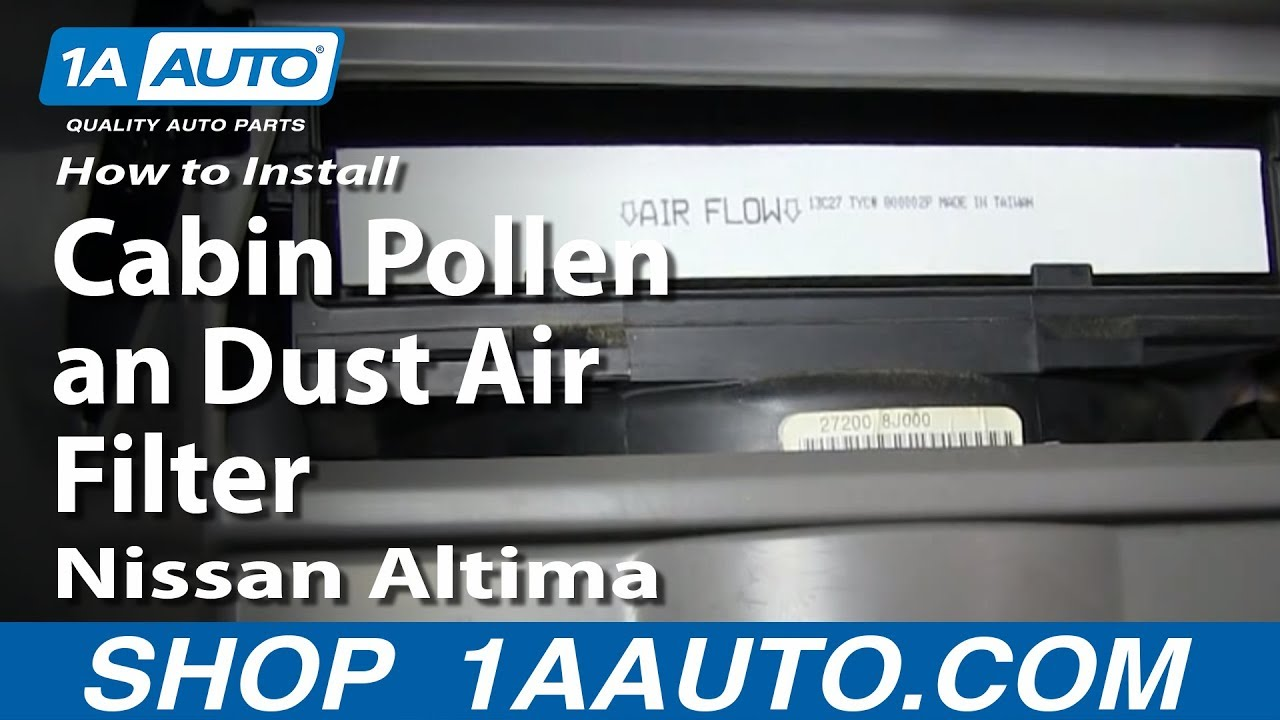 How To Install Replace Change Cabin Pollen An Dust Air
