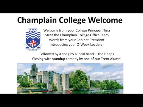 Champlain College Welcome - Trent Orientation 2020